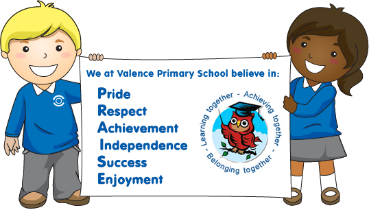 Two children holding the P.R.A.I.S.E banner. Providing quality teaching and learning within a stimulating, challenging, creative and inclusive curriculum.  Respect, honesty, tolerance and good behaviour are values we foster.  Achievements are celebrated and built on.  Independence, confidence, self motivation and pride are encouraged.  Success and high standards are expected and promoted.  Everyone has the opportunity to excel and enjoy their learning.